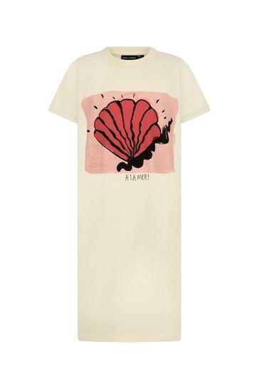 Girls Ivory Organic Cotton Shell Dress