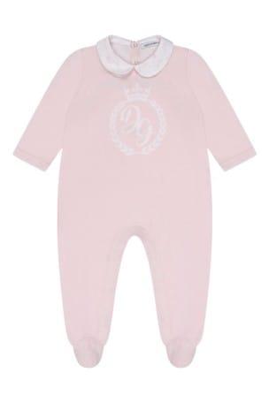 Girls Pink Cotton Babygrow 3 Piece Set