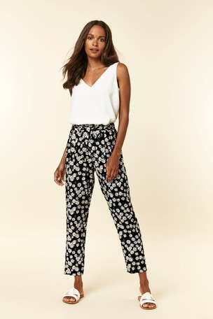 sale online pretty cheap store Buy Wallis Petite Black Daisy Trousers from Next Ireland