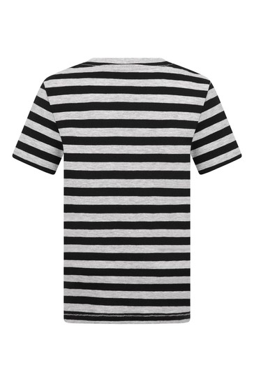 Baby Boys Black Cotton T-Shirt
