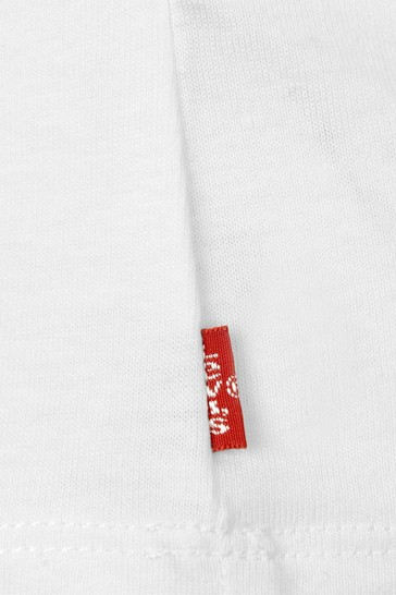 Levi's Baby Girls White Cotton Long Sleeve T-Shirt