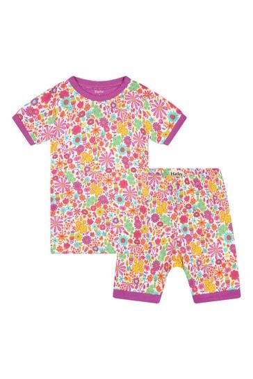 Girls Mini Flowers Organic Cotton Short Pyjama Set