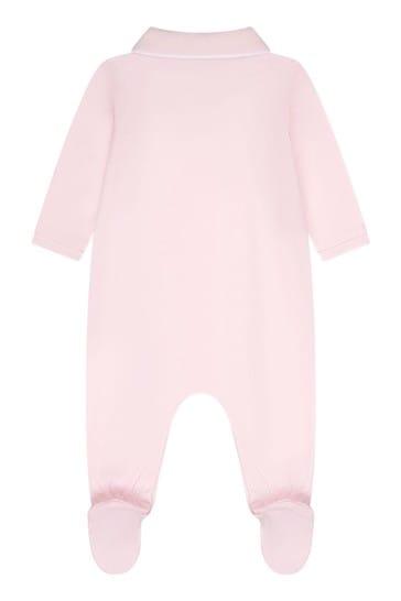 아기 소녀 핑크 코튼 베이비 그랄라기