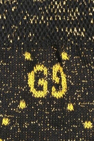 Black Glittery GG Socks
