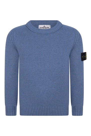 Boys Navy Wool Knitted Jumper
