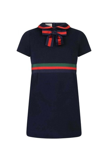 Girls Cotton Dress With Bow