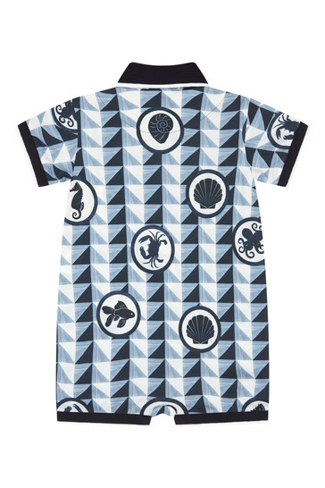 Dolce & Gabbana Baby Boys Navy Cotton Rompersuits