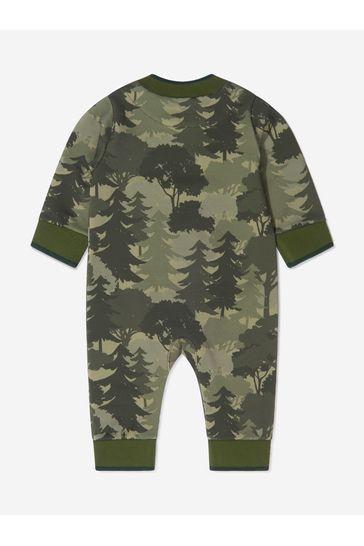 Baby Boys Khaki Cotton Trees Romper
