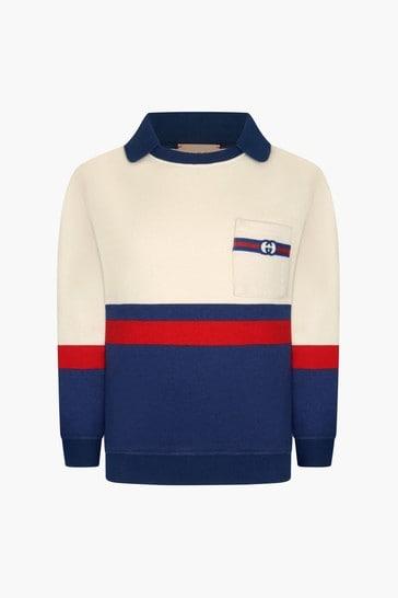 Boys Blue Cotton Sweater