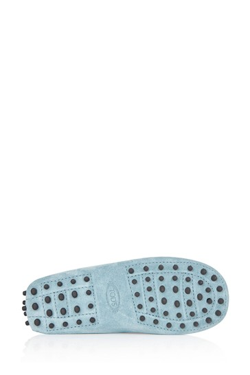 Boys Blue Leather Loafers