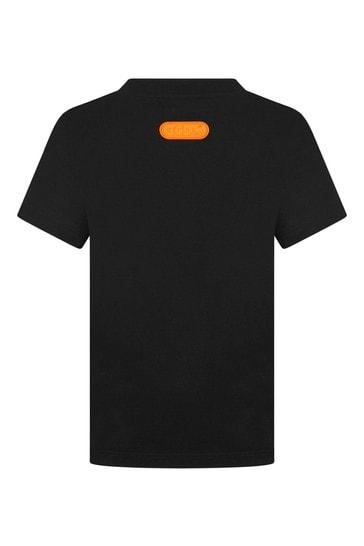 Kids Black Cotton T-Shirt