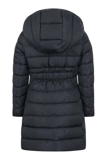 Girls Navy Down Padded Charpal Coat