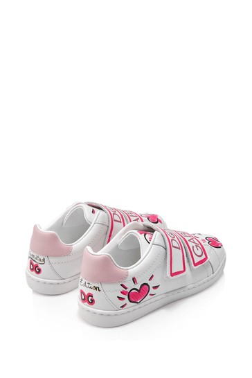 Dolce & Gabbana Girls Pink Leather Trainers