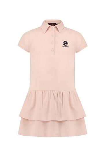 핑크 코튼 드레스