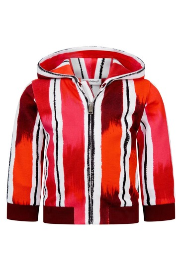 Dolce & Gabbana Baby Boys Red Cotton Zip Up Top