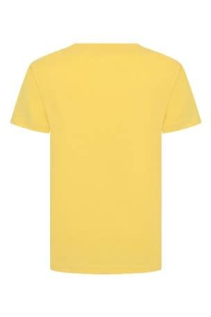 Boys Yellow Cotton Jersey Polo T-Shirt