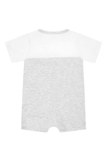 Baby Boys Grey Cotton Romper