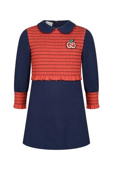 Girls Blue Jersey Dress