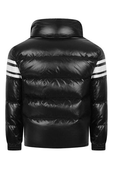 Boys Black Down Padded Saise Jacket
