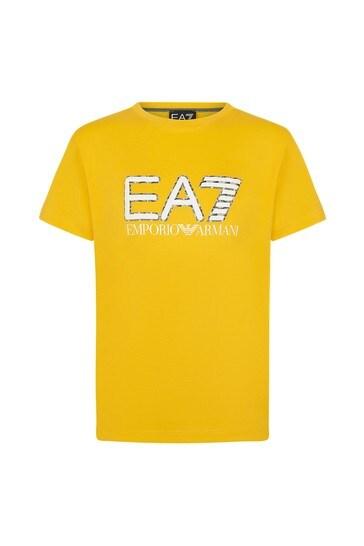 보이즈 옐로우 코튼 티셔츠
