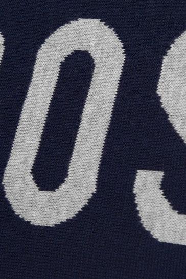 Boys Navy Logo Scarf