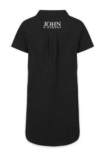 걸스 블랙 코튼 드레스