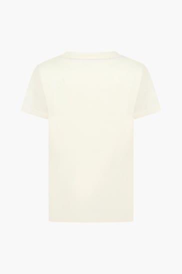 Boys Ivory Cotton Jersey Logo Top