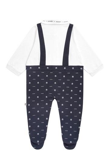Navy Cotton Babygrow