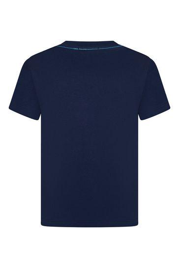보이즈 네이비 코튼 티셔츠