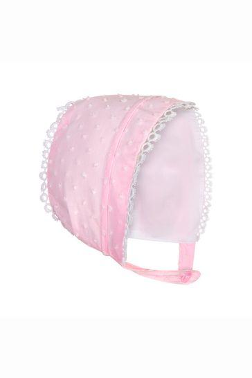 Baby Girls Pink Cotton Dress Set