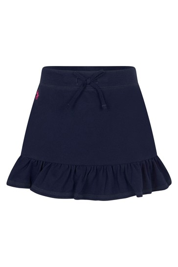 Girls Navy Cotton Skirt