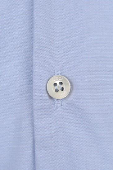 Boys Light Blue Popeline Embroidered Shirt