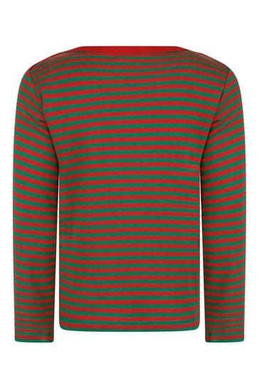 Cotton Striped Logo T-Shirt