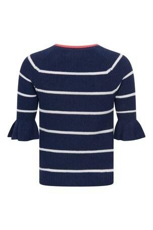 걸스 네이비 스트라이프 코튼 스웨터