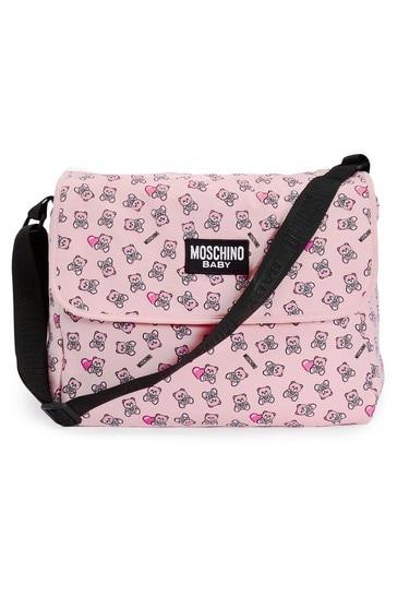 Baby Girls Pink Cotton Changing Bag