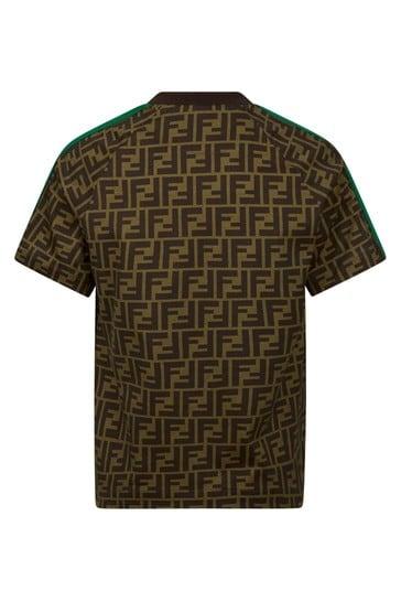 Kids Brown Cotton T-Shirt