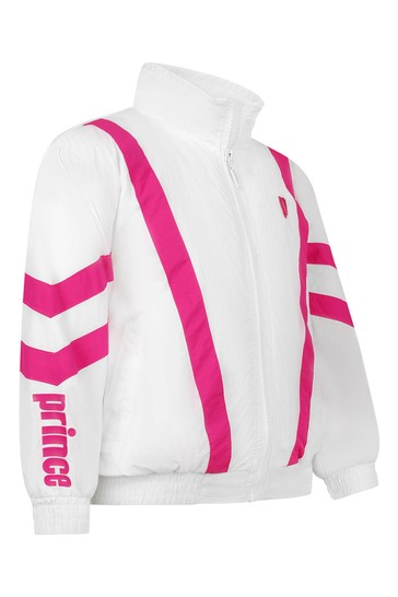 Kids White Baseline Track Jacket