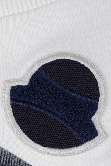 Boys Ivory Cotton Logo Sweater
