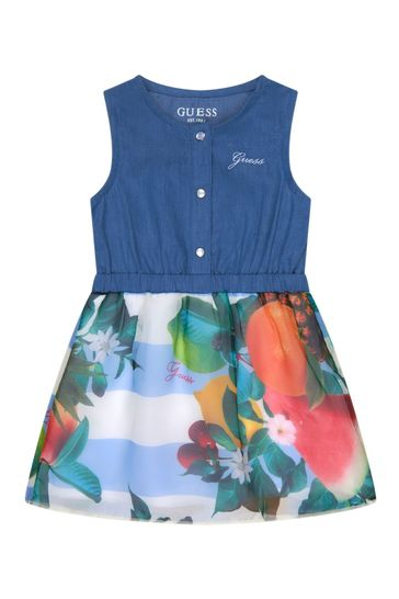 Baby Girls Blue Cotton Dress