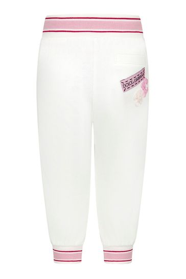 Dolce & Gabbana Baby Girls Pink Cotton Joggers