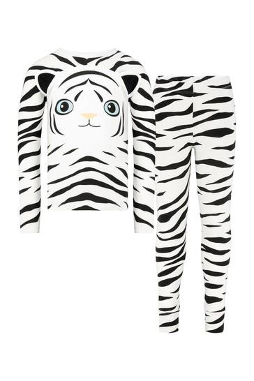 Girls Black Cotton Pyjamas