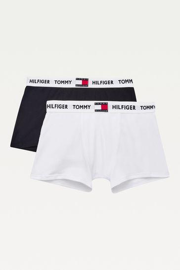 Tommy Hilfiger Boys White Cotton Boxer Shorts Set