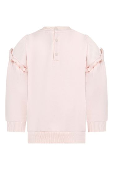 Baby Girls Pink Cotton Sweat Top