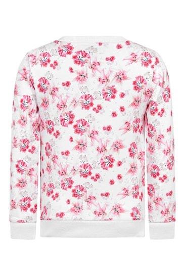 Girls Pink Cotton Sweater