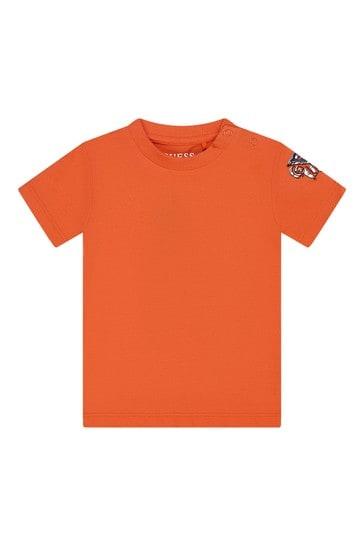 Baby Boys Orange Cotton Set