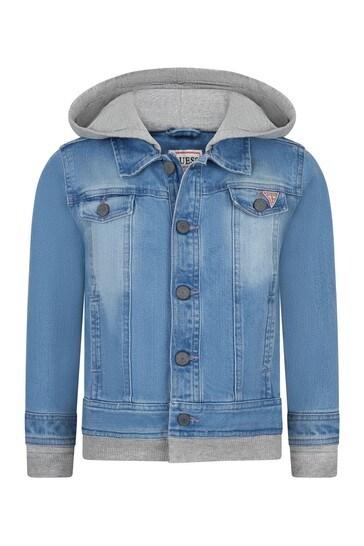 Boys Blue Cotton Jacket