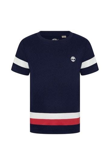 네이비 코튼 티셔츠