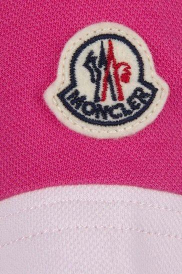 Girls Pink Pique Polo Dress