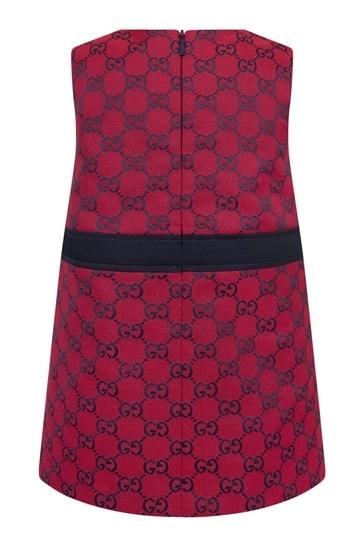 Baby Girls Red Cotton Blend Dress