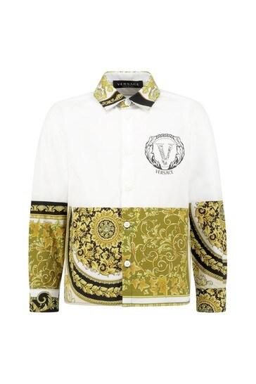 Boys Gold Cotton Shirt